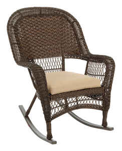 Chicago Wicker  Brown  Steel  Relaxer Chair
