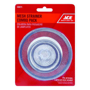 Ace  2-1/2 in. Dia. Mesh Strainer  Chrome