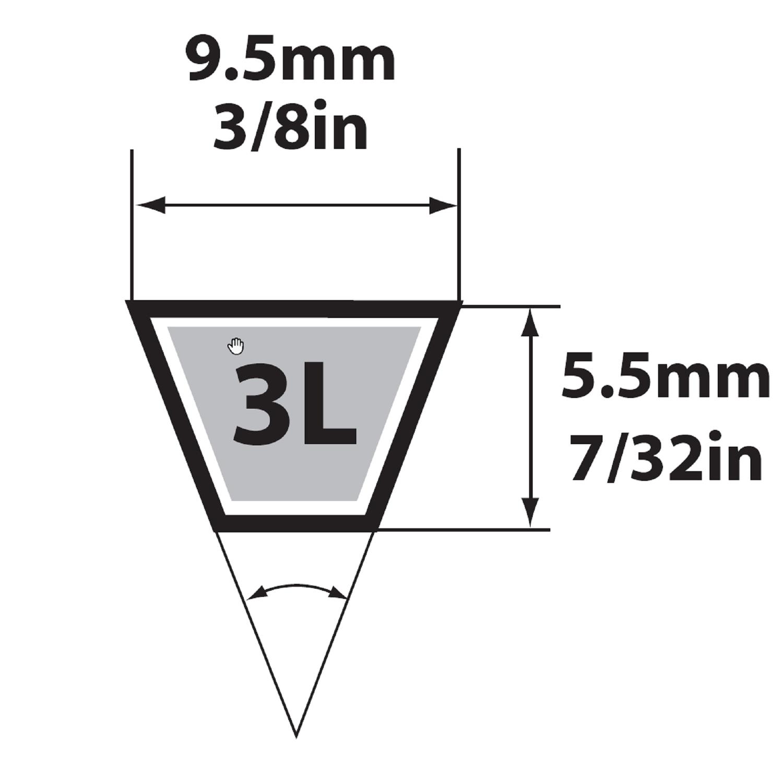 Strainer Screen 4L270 V Belt 1//2 x 27