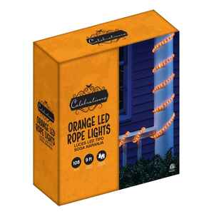 Celebrations  LED Rope  Lighted Orange  Halloween Lights  .5 in. H x 13 M W x 216 in. L 1 pk