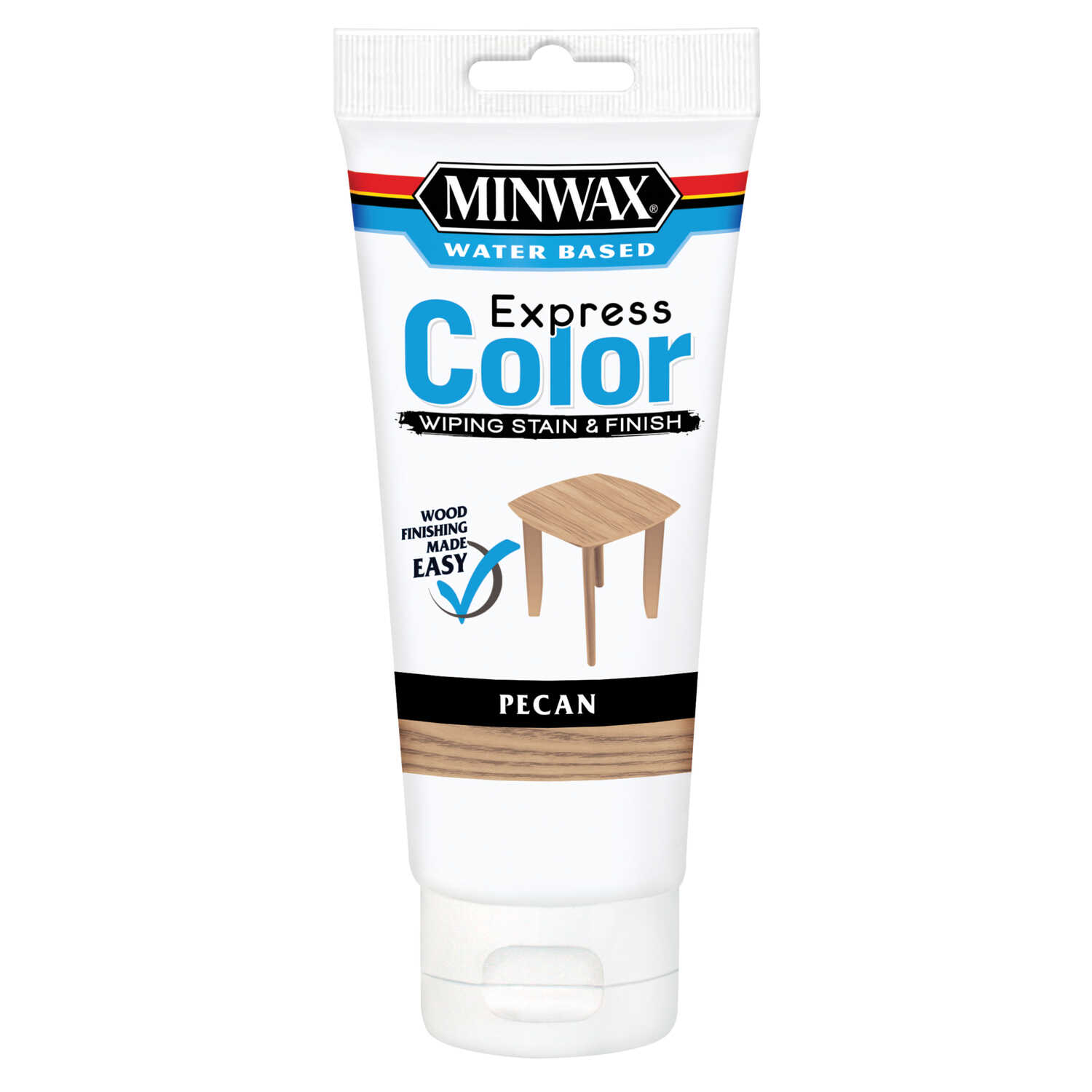Minwax  Express Color  Semi-Transparent  Pecan  Water-Based  Acrylic  Wiping Stain and Finish  6 oz.
