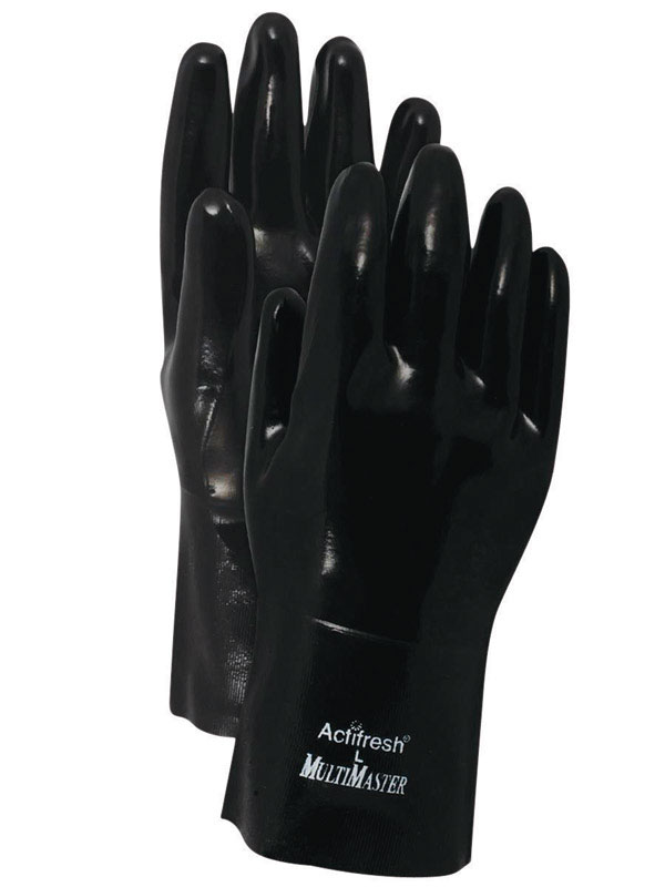 Handmaster  Men's  Indoor/Outdoor  Neoprene  Gauntlet  Gloves  Black  One Size Fits All