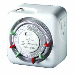 Intermatic  Plug In Timer  White  Indoor