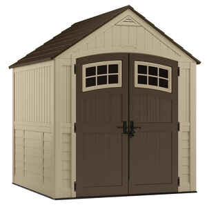 Suncast  Sutton  8.5 ft. H x 7 ft. W x 7 ft. D Beige  Resin  Storage Shed