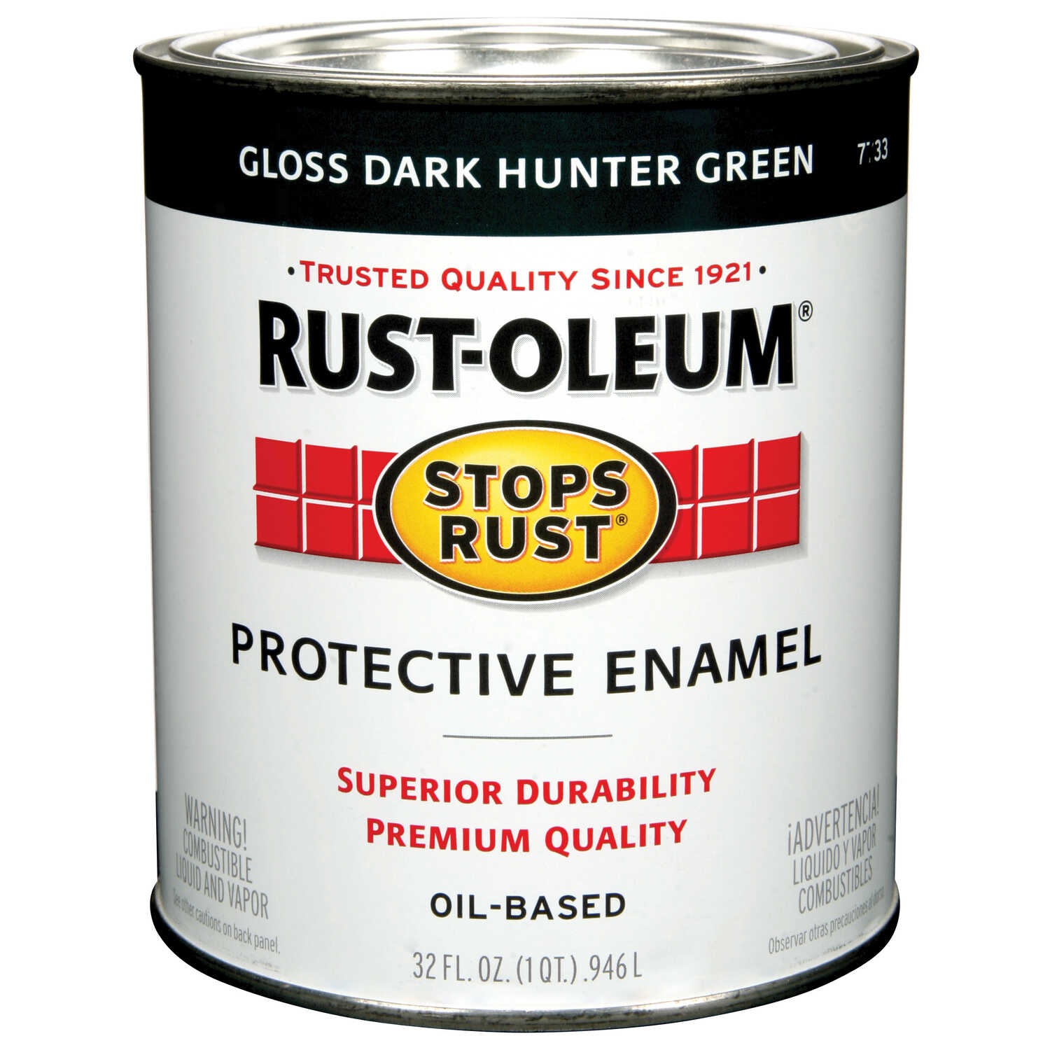 Rust-Oleum  Dark Hunter Green  Protective Enamel  1 qt.