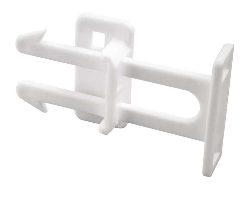 Prime-Line  White  Plastic  Drawer Latches  3 pk