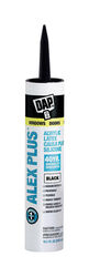 DAP  Alex Plus  Black  Acrylic Latex  All Purpose  Caulk  10.1 oz.