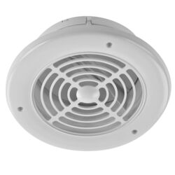 Imperial 4 in. W x 4 in. L White Plastic Exhaust Vent