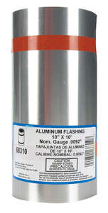Amerimax  10 in. H x 5-1/2 in. W x 10 ft. L Cylindrical  Aluminum  Silver  Roll Flashing