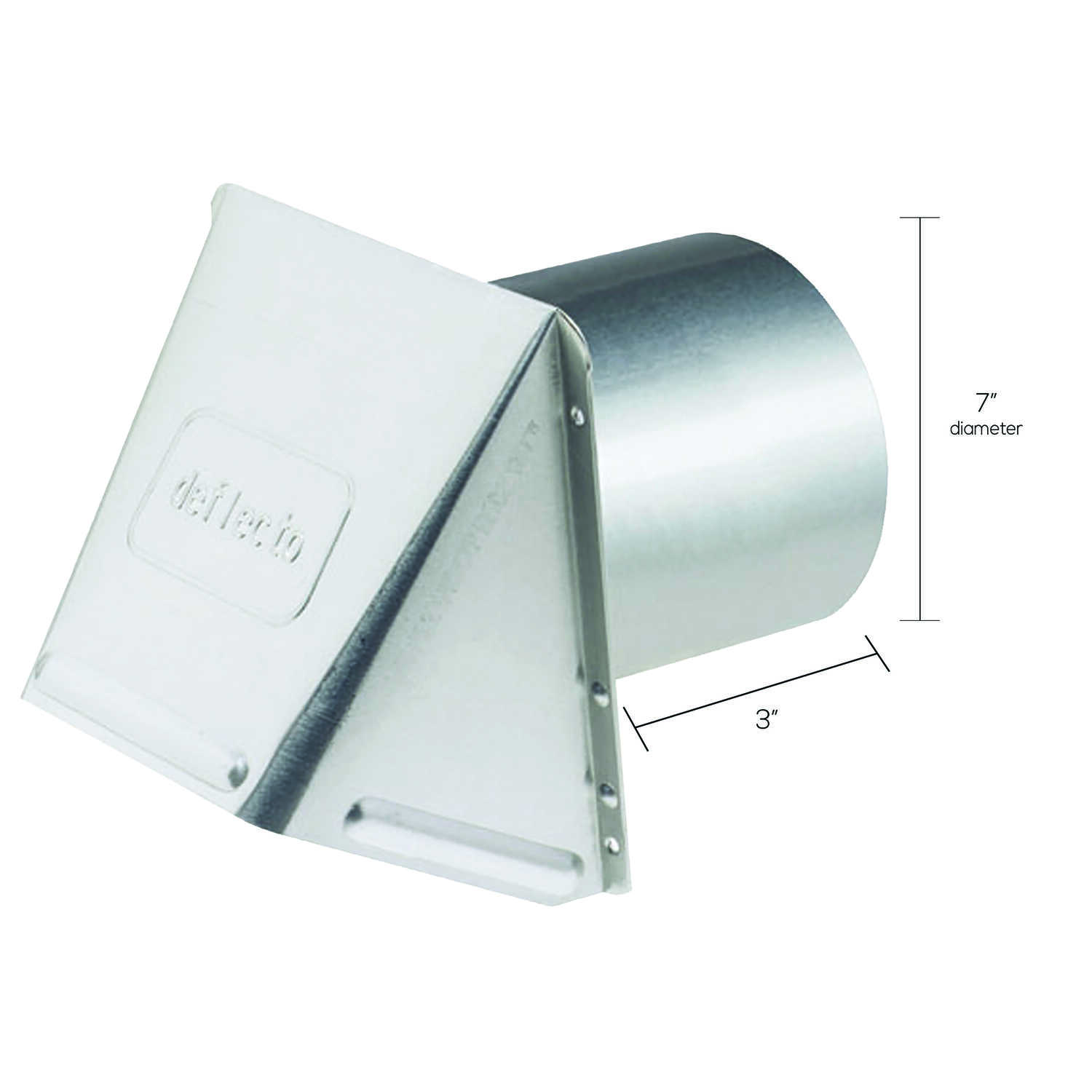 DeFlect-O  7 in. Dia. Aluminum  Wall Cap With Damper