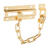 National Hardware 4 in. L Bright Brass Steel Door Chain Lock