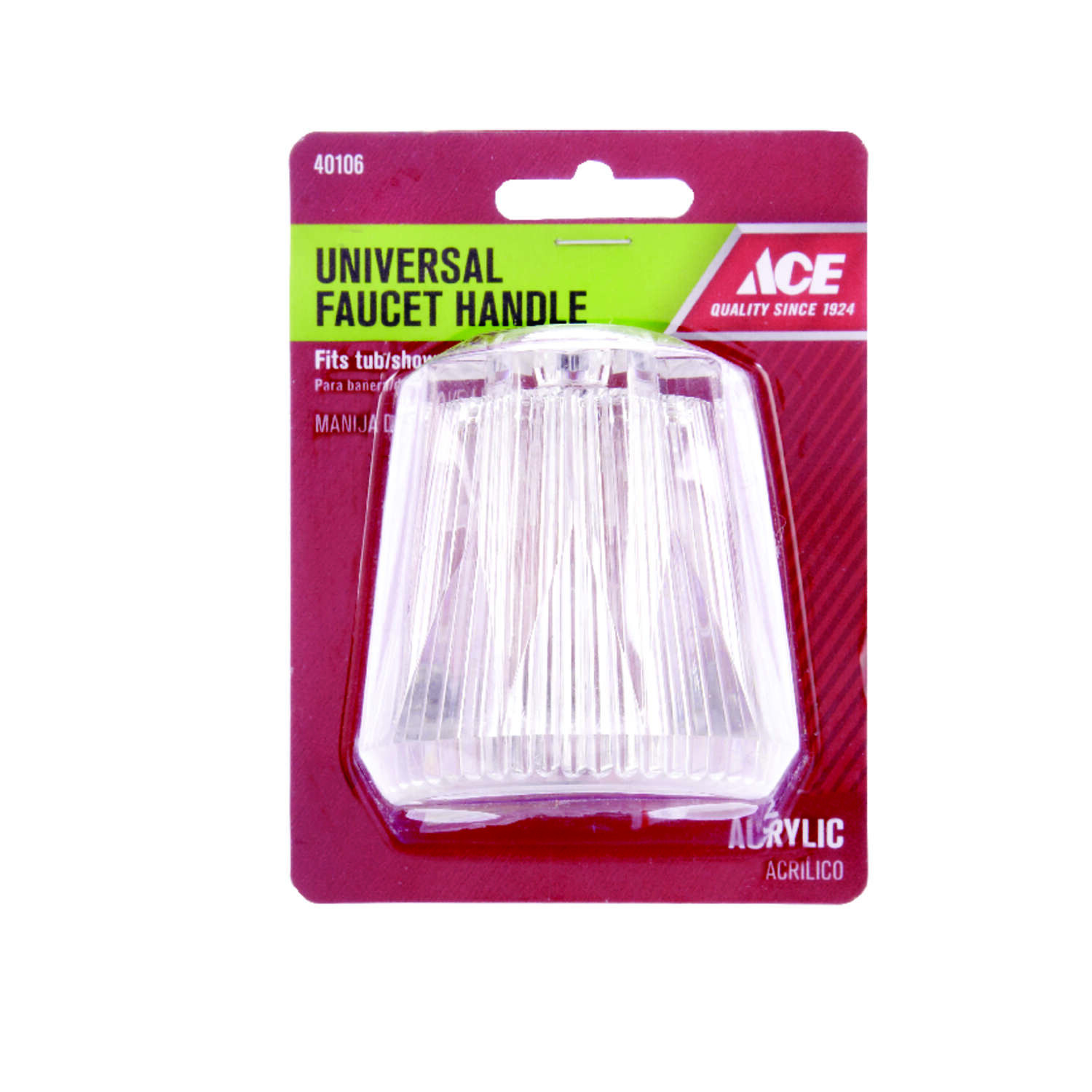 Ace  For Universal Clear  Tub and Shower  Faucet Handle