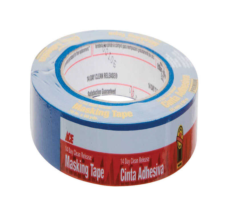 Ace  0.7 in. W x 60 yd. L Blue  Medium Strength  Painter's Tape  1 pk