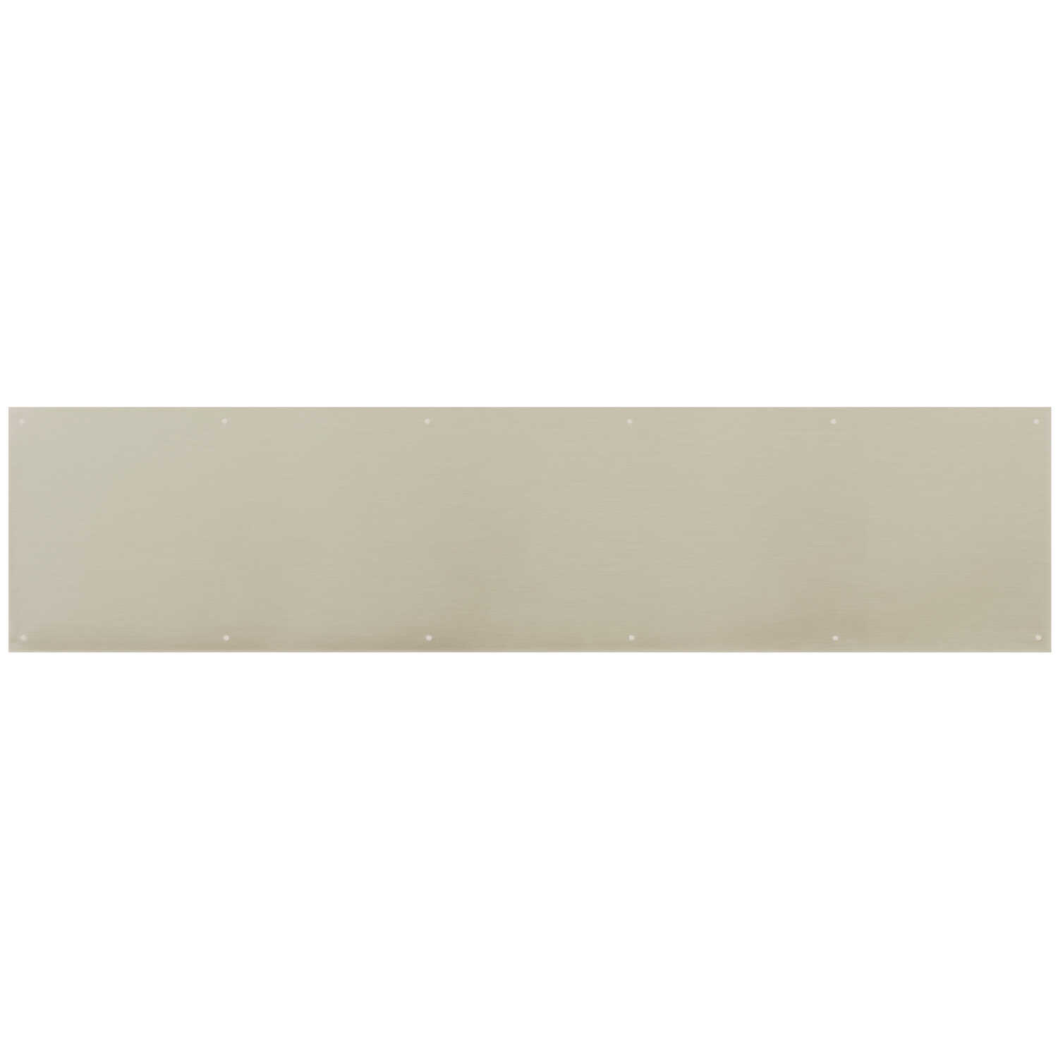 Ace  8 in. H x 34 in. L Satin Nickel  Brass  Kickplate