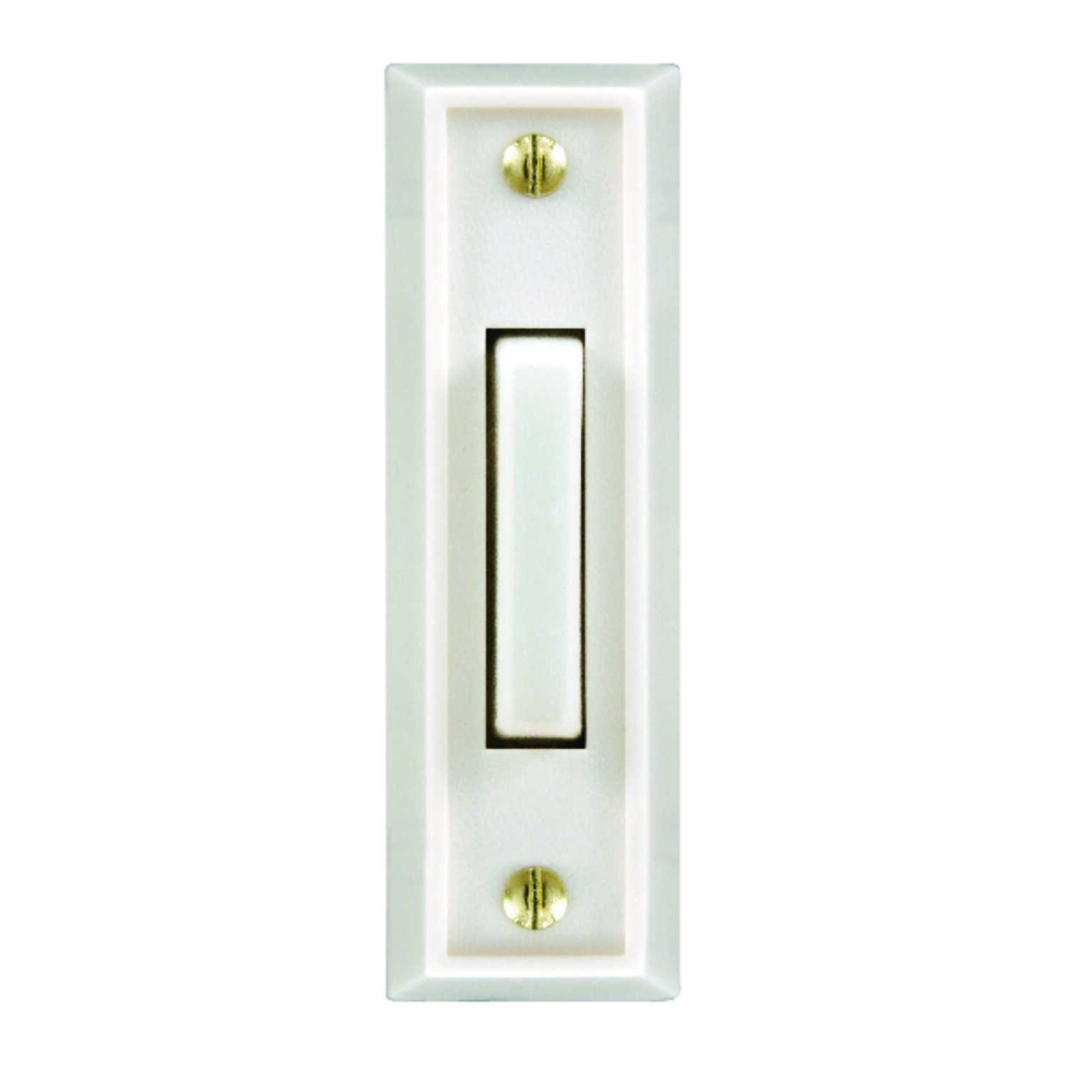 Heath Zenith  Plastic  Wired  Pushbutton Doorbell