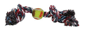 Diggers  Multicolored  Cotton  Rope with Tennis Ball Dog Toy  Large  Rope with Tennis Ball