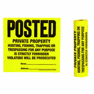 Hy-Ko  Tyvek  English  Private Property  Sign  Polyethylene  11 in. H x 11 in. W