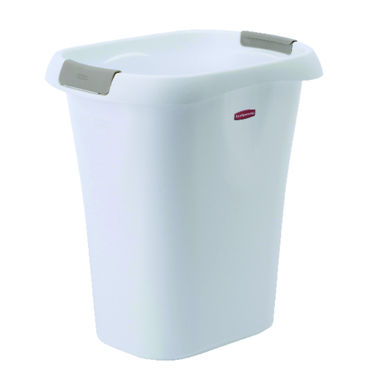 Rubbermaid  21 qt. White  Open Top  Wastebasket