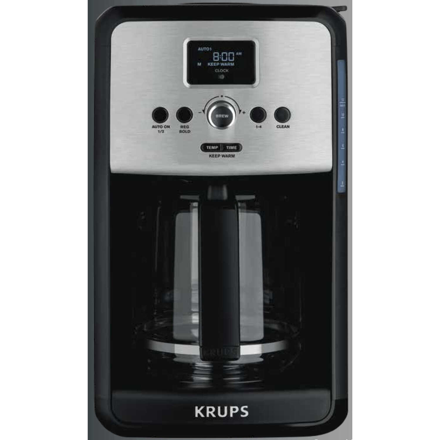 Krups  Savoy  12 cups Silver  Coffee Maker