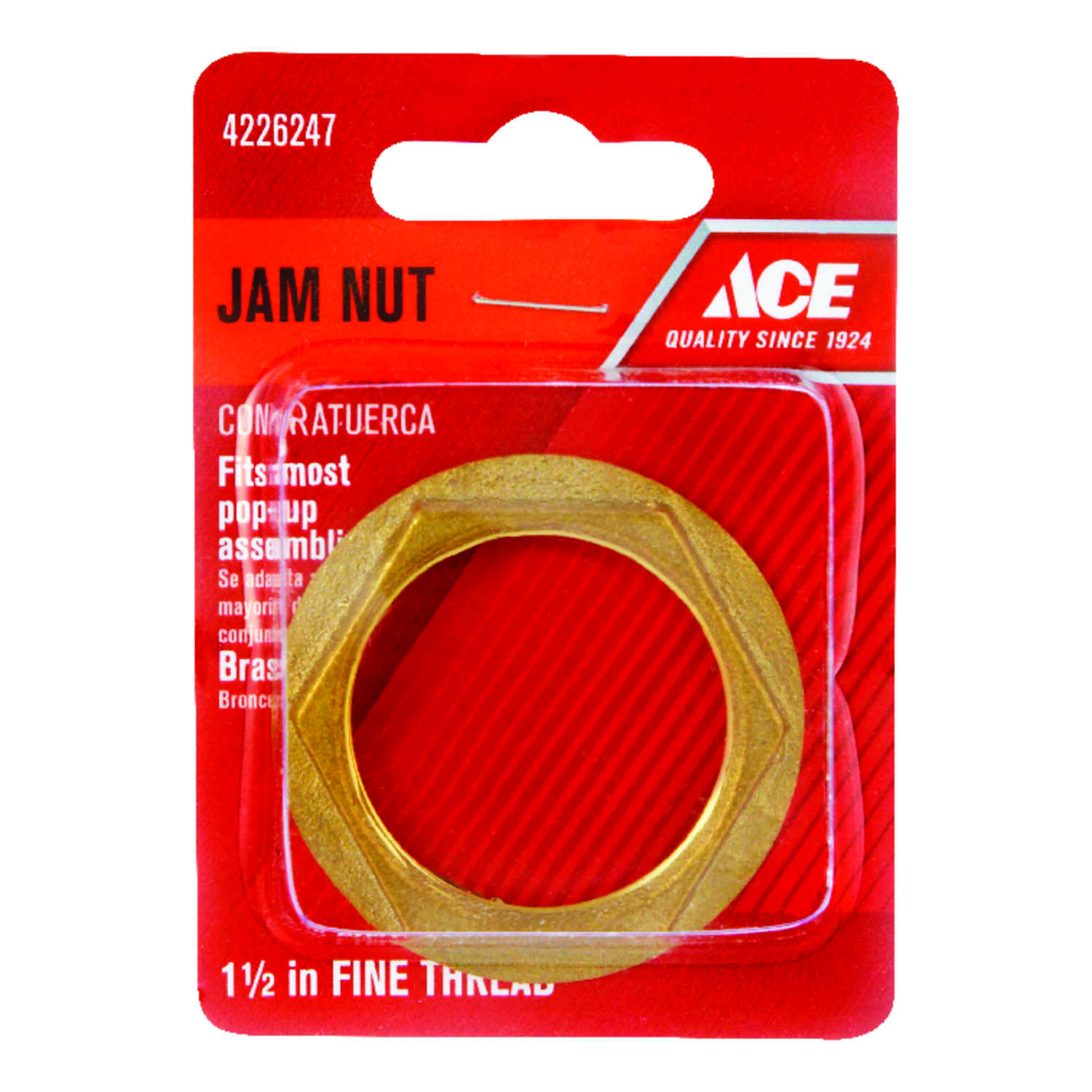 Ace  Brass  Die Cast Jam Nut  1-1/2 in. Dia.