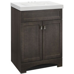 Continental Cabinets  Single  Semi-Gloss  Grey  Vanity Combo  24 in. W x 18 in. D x 33-1/2 in. H