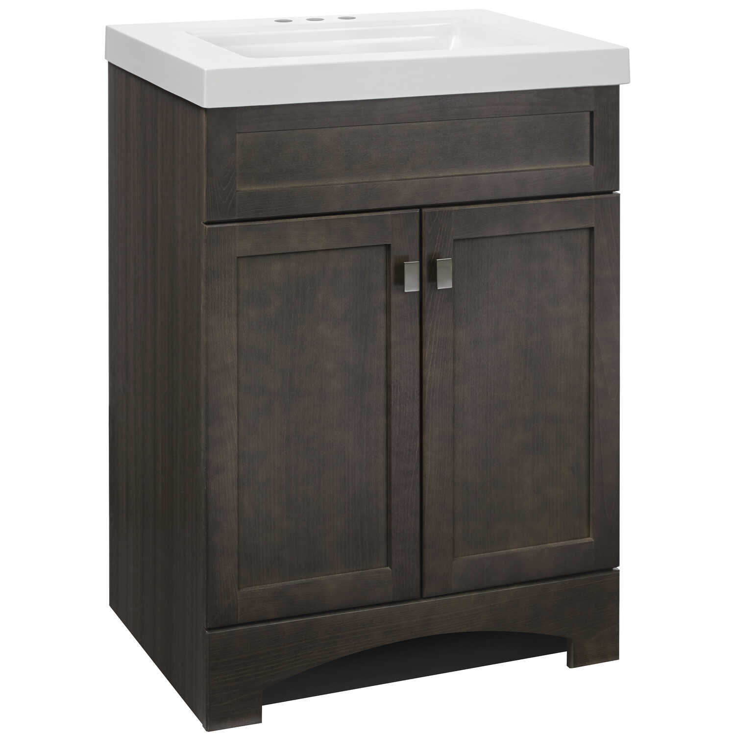 Continental Cabinets  Davison  Single  Semi-Gloss  Grey  Vanity Combo  24 in. W x 18 in. D x 33-1/2