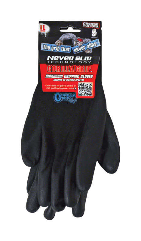 Grease Monkey  Grip Gloves  Black  L  1 pair