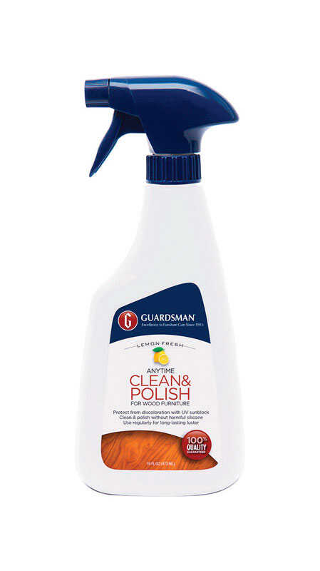 Guardsman  Anytime Clean & Polish  Lemon Scent Fine Furniture Cleaner and Polish  16 oz. Liquid