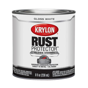 Krylon  Rust Protector  Indoor and Outdoor  Gloss  White  Oil-Based  Enamel  Rust Protector Paint  8