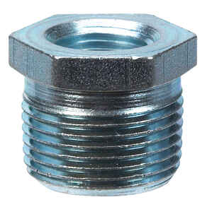Billco  3/4 in. MPT  3/8 in. Dia. MPT  Galvanized Steel  Hex Bushing