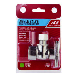 Ace  FIP   Compression  Brass  Angle Stop Valve