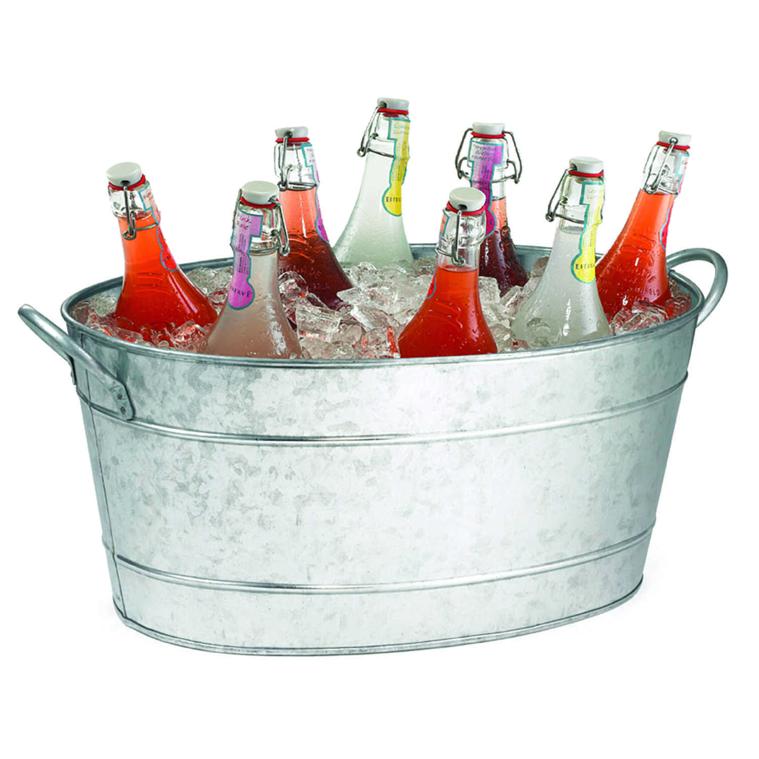 Tablecraft  14 in. W x 19 in. L Silver  Steel  Oval Beverage Tub