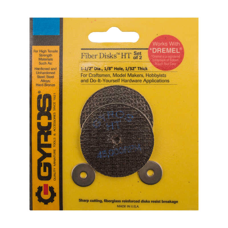Gyros Tools  Fiber Disk High Tensile  1-1/2 in. Fiberglass  Cutting Disc  1/32 in. thick  x 1/4 in.