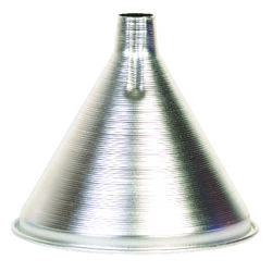 HIC  Silver  4 in. H Aluminum  12 oz. Funnel