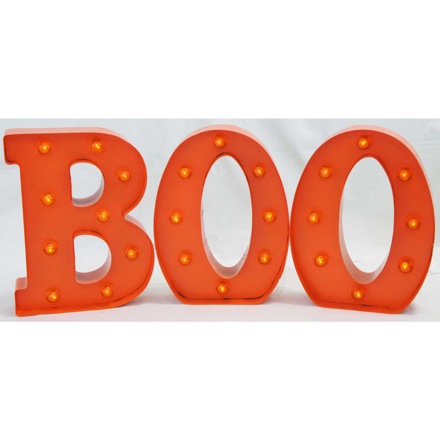 Sienna  Orange  Metal Boo Sign