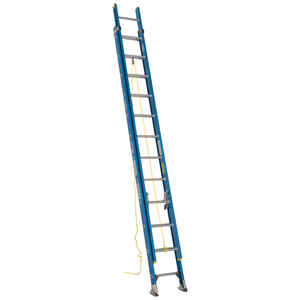 Werner  24 ft. H x 18.13 in. W Fiberglass  Extension Ladder  Type 1  250 lb.