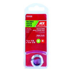 ACE  Chrome  55/64 in.  x 15/16 in.  Male Aerator Adapter  1 pack