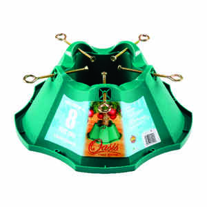 Oasis  Plastic  Christmas Tree Stand  8 ft. Maximum Tree Height Green