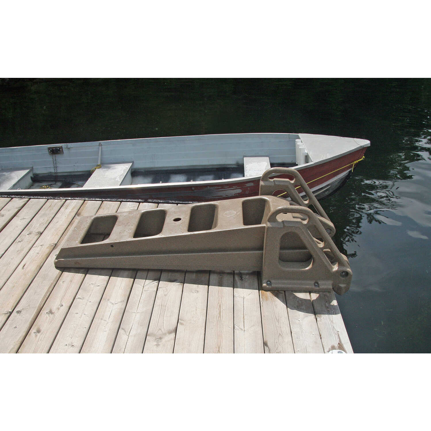 Tommy Docks  Techstar  Brown  Plastic  Dock Ladder