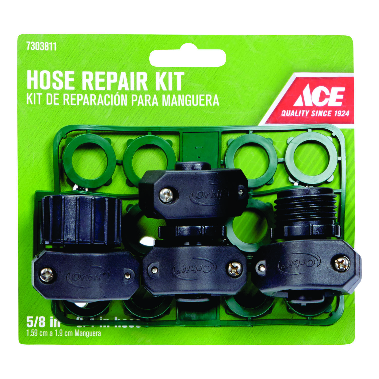 Ace 5/8-3/4 in. Plastic Threaded Male/Female Hose Mender - Ace Hardware