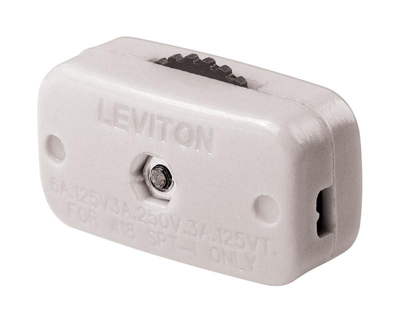 Leviton Cord Switch Single Pole Feed Thru On/Off 6 Amp 125 volts ...