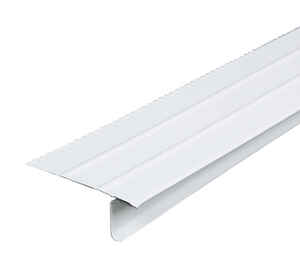 Amerimax  2.43 in. W x 10 ft. L Aluminum  Overhanging Roof Drip Edge  White