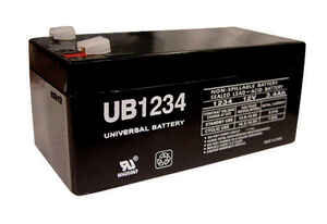 Universal Power Group  UB1234  3.4 amps Lead Acid Battery