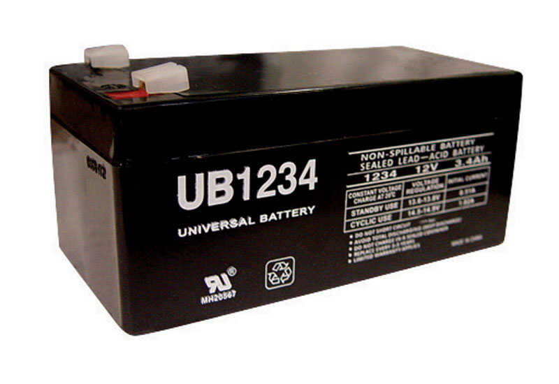 Universal Power Group  UB1234  3.4 amps Lead Acid Automotive Battery