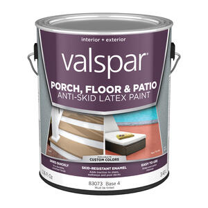 Valspar  Clear  Base 4  Latex  Porch & Floor Paint  1 gal.