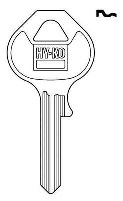 Hy-Ko  Traditional Key  Automotive  Key Blank  Single sided For For Master Lock Padlocks