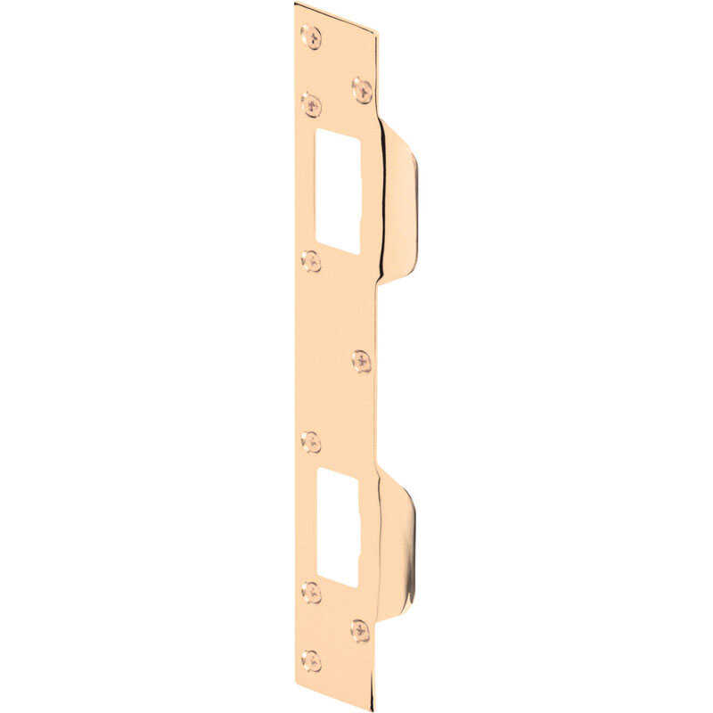 Prime-Line  11 in. H x 1.625 in. L Brass-Plated  Steel  Door Strike