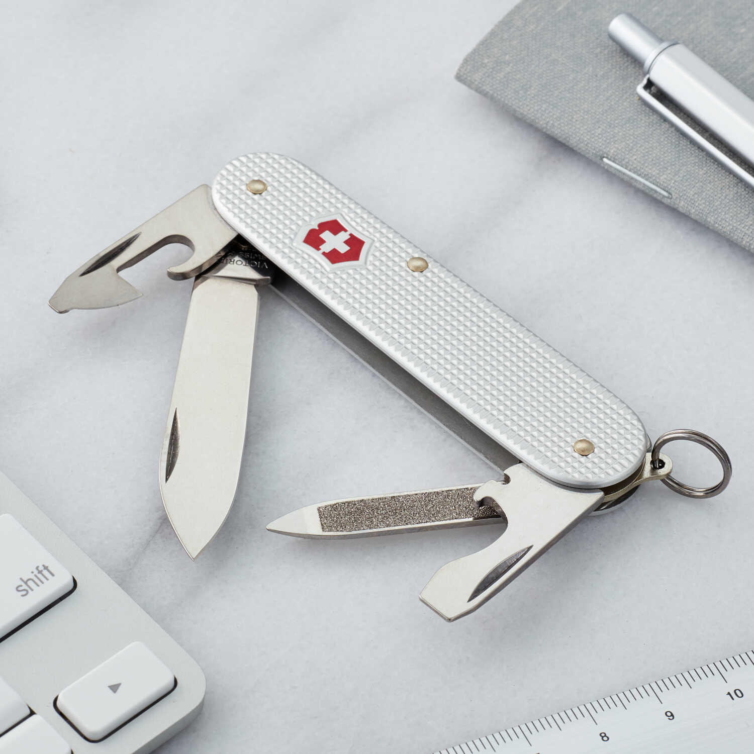 Victorinox Swiss Army  Cadet  Silver  Stainless Steel  3.3 in. Pocket Knife