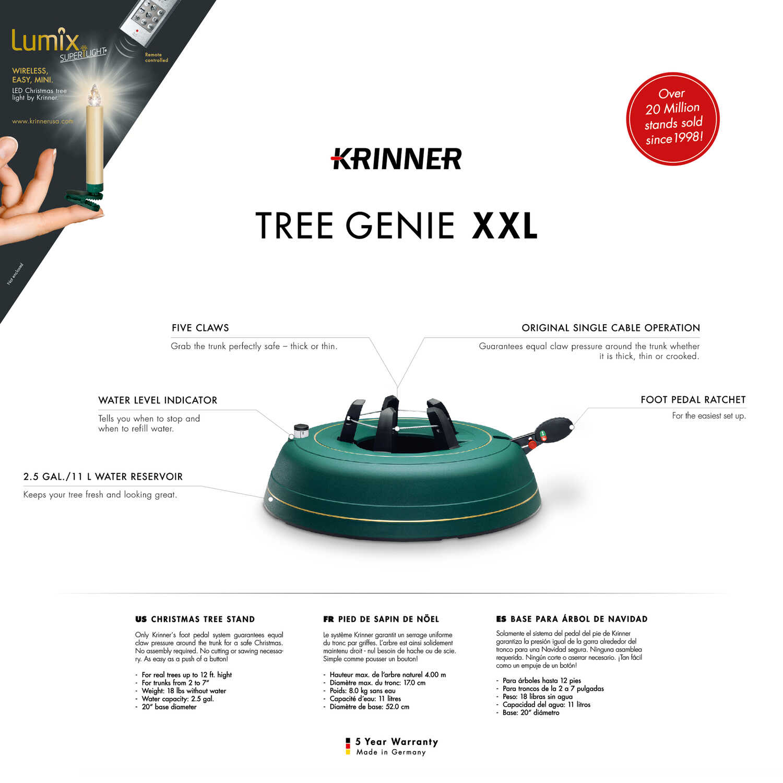 Krinner Steel Green Christmas Tree Stand 12 Maximum Tree