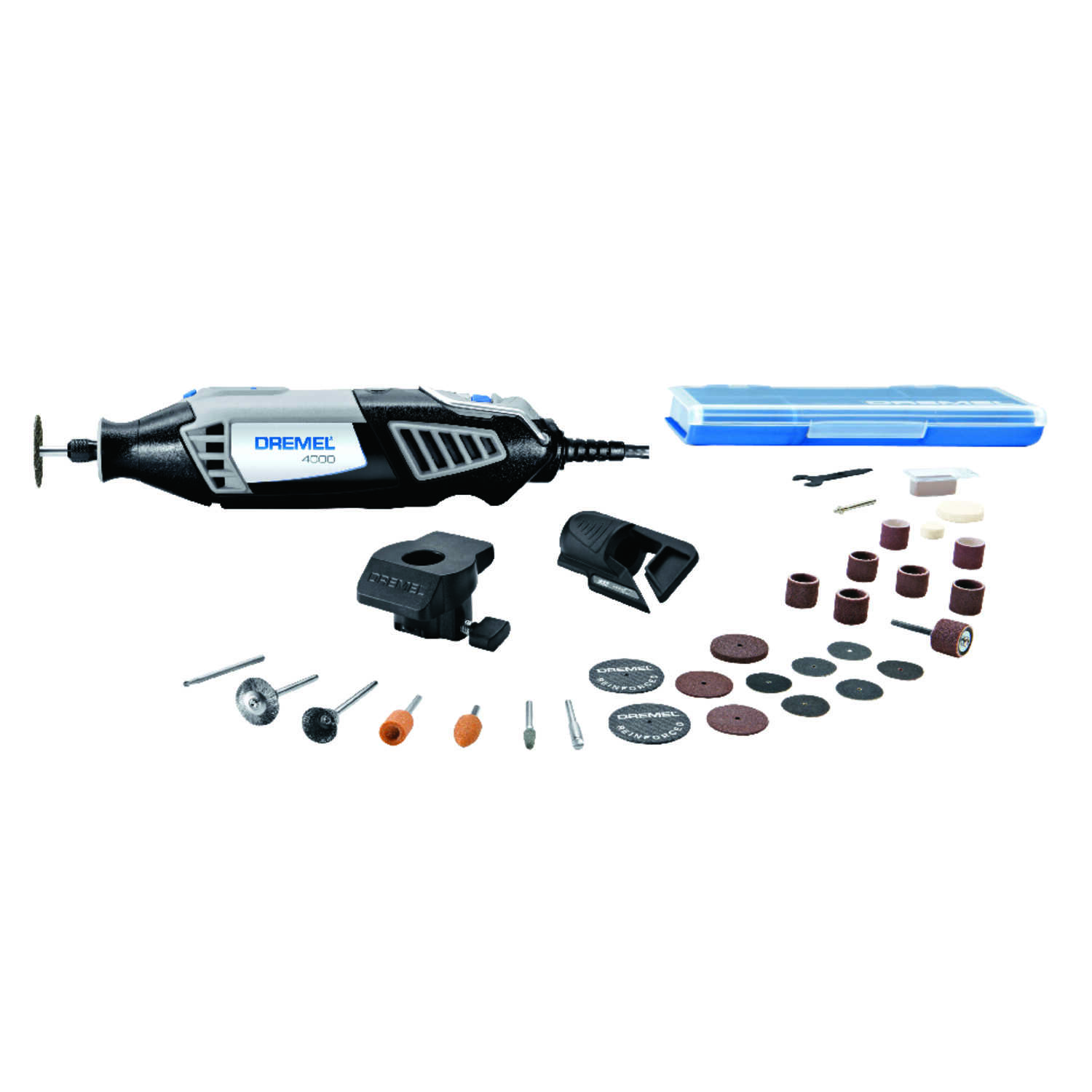 Dremel  4000  1/8 in. Corded  Rotary Tool  Kit 1.6 are 120 volt 35000 rpm 30 pc.